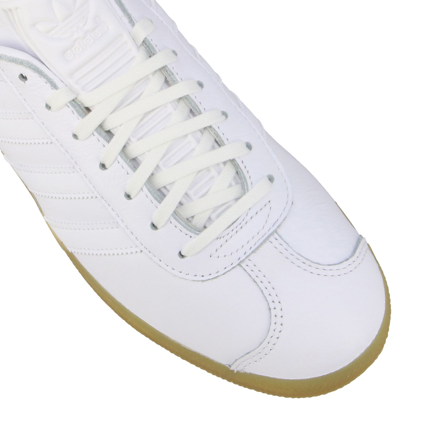 Sneakers Adidas Originals: Adidas Originals Gazelle leather sneakers with logo white 4