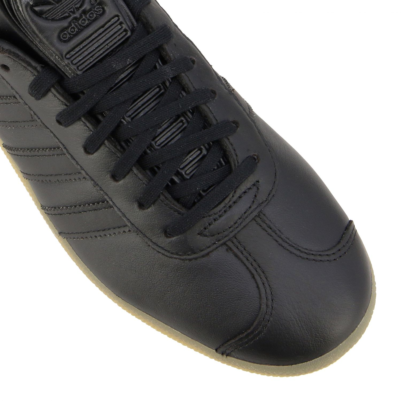 运动鞋 Adidas Originals: Adidas Originals Gazelle logo 真皮运动鞋 黑色 4