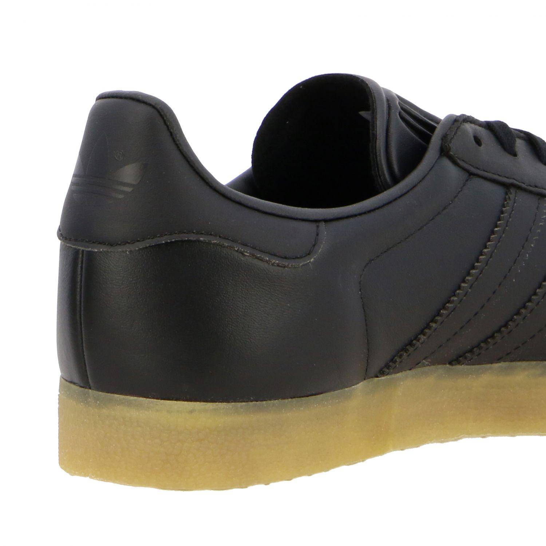 运动鞋 Adidas Originals: Adidas Originals Gazelle logo 真皮运动鞋 黑色 5