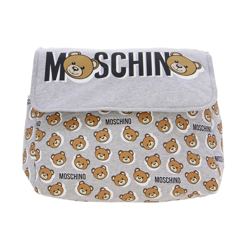 Moschino Baby Mama's bag cotton bag with teddy grey 1