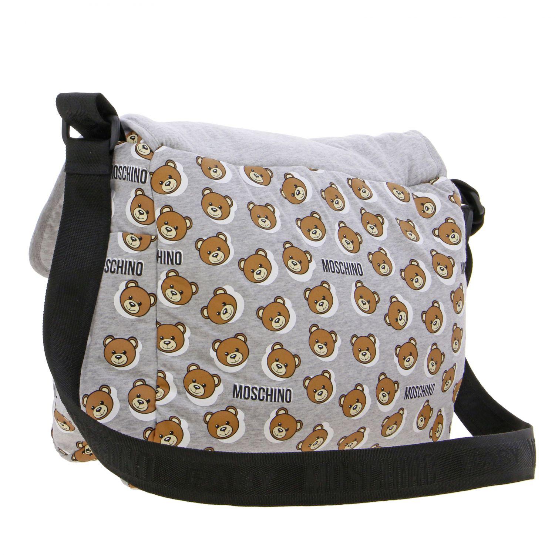 Moschino Baby Mama's bag cotton bag with teddy grey 2
