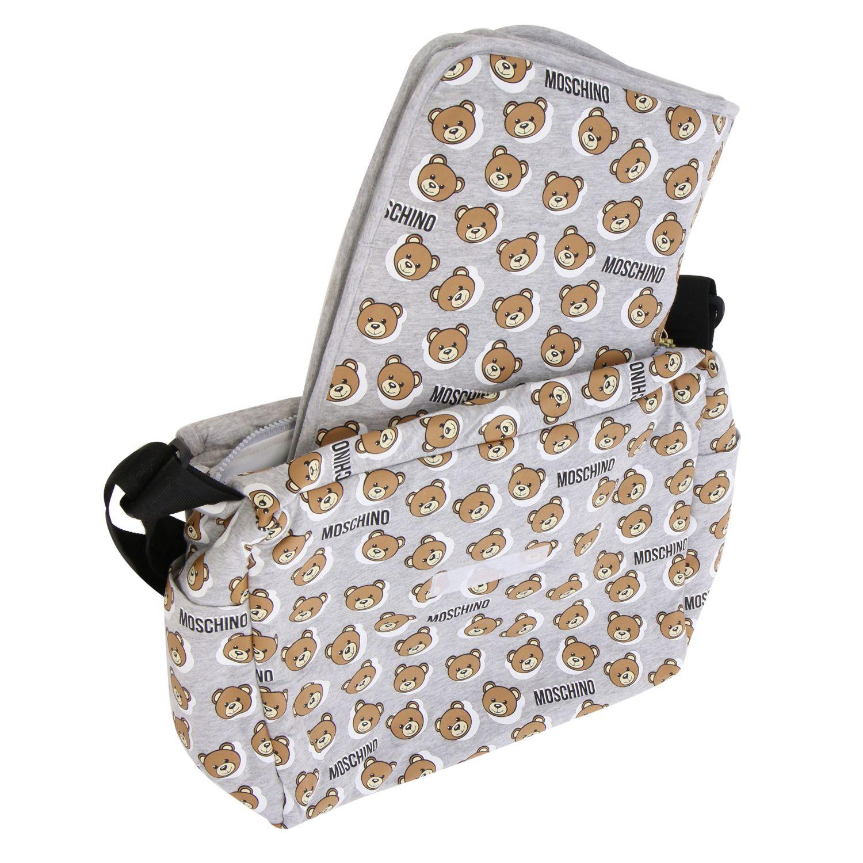 Moschino Baby Mama's bag cotton bag with teddy grey 3