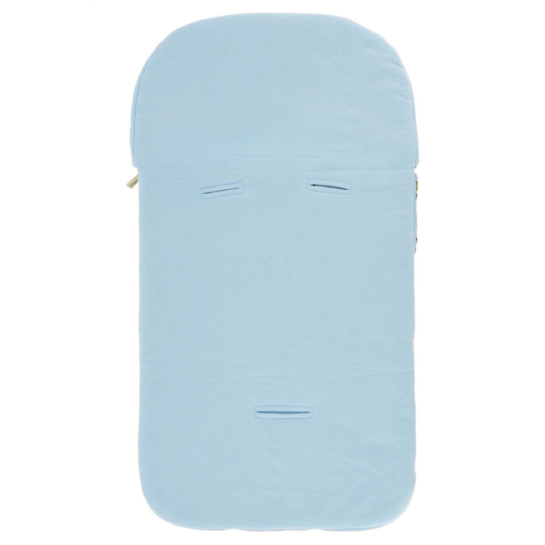 Moschino Baby sack blanket with teddy print sky 2