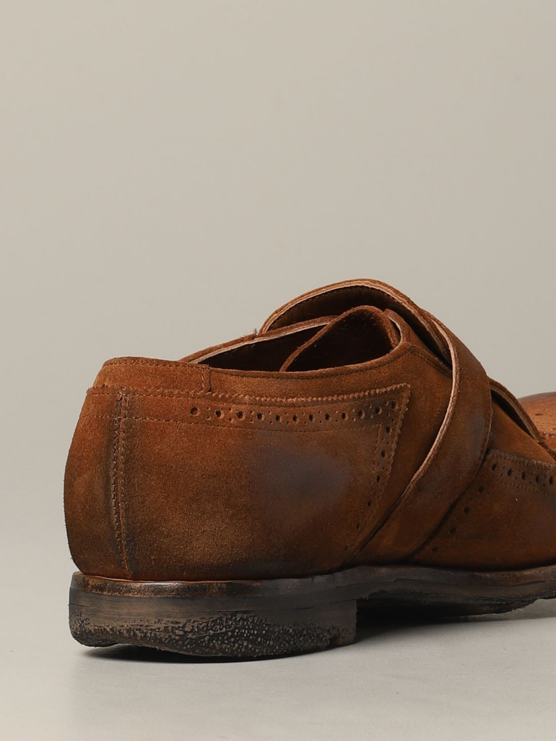 Brogue shoes Church's: Church's suede loafer with fringes and buckle brown 5