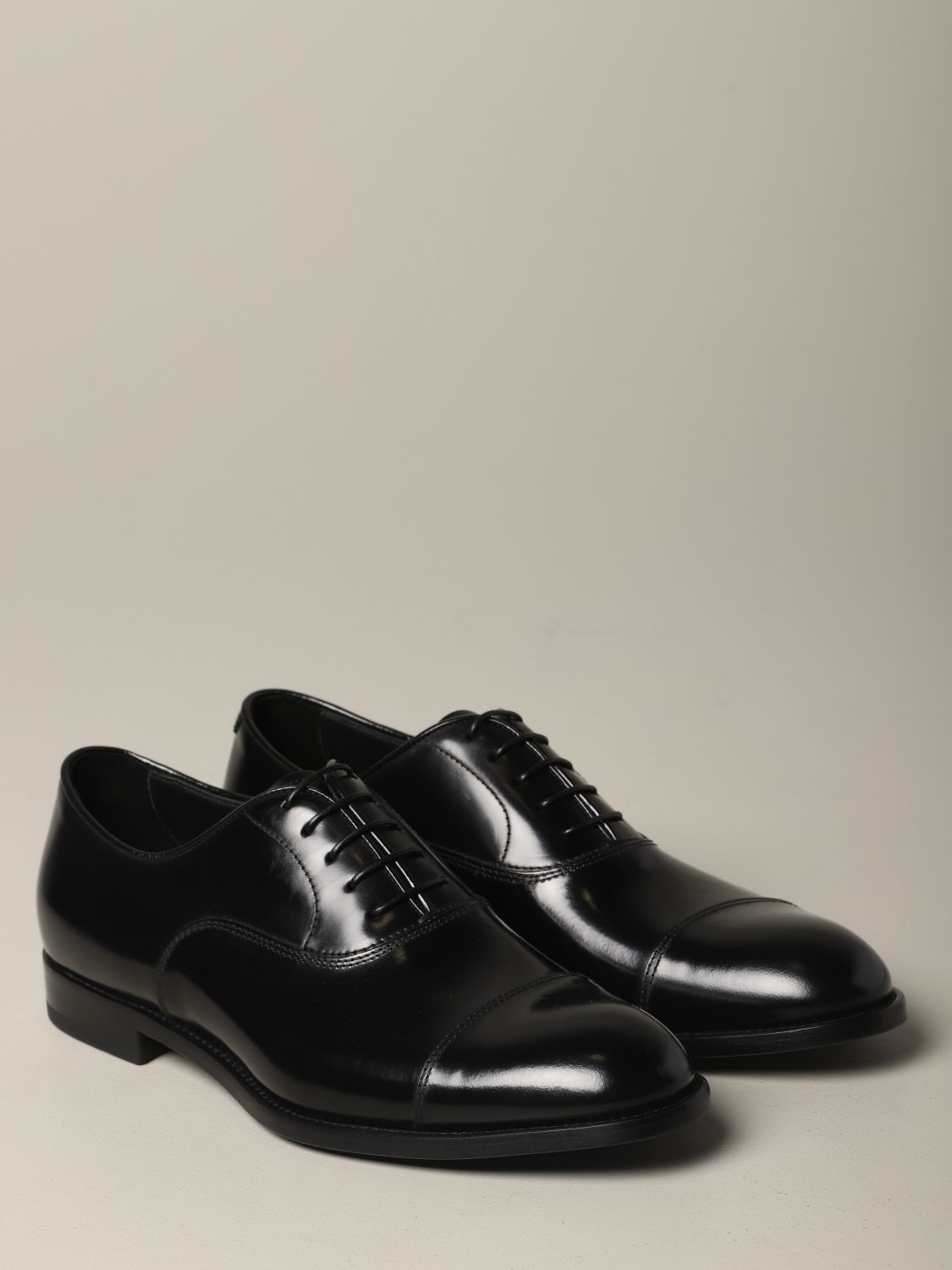 Brogue shoes Doucal's: Doucal's lace-up derby in leather black 2