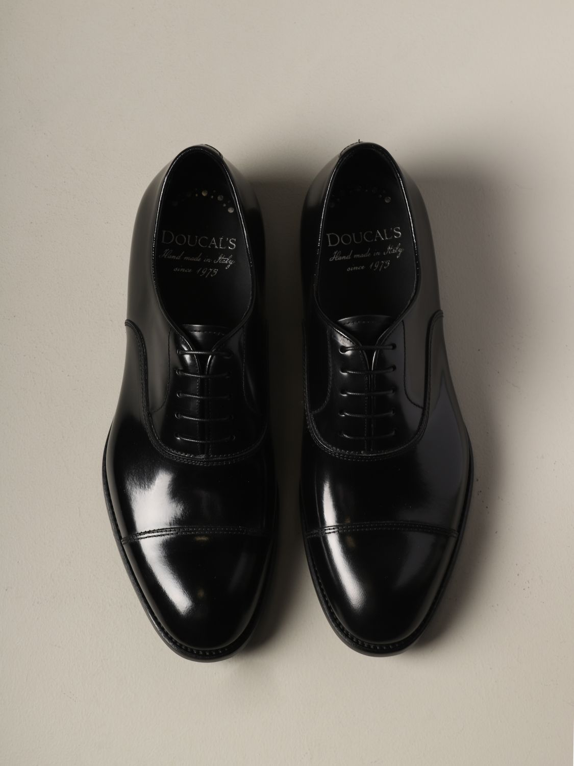 Brogue shoes Doucal's: Doucal's lace-up derby in leather black 3
