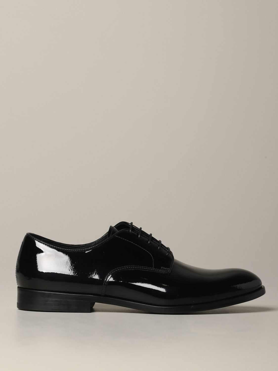 Brogue shoes Doucal's: Doucal's lace-up derby in shiny leather black 1