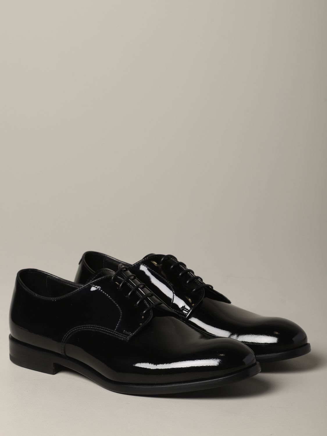 Brogue shoes Doucal's: Doucal's lace-up derby in shiny leather black 2