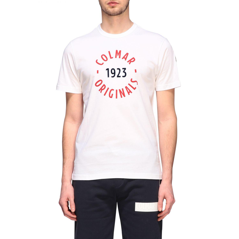 T-shirt Colmar a maniche corte con logo bianco 1