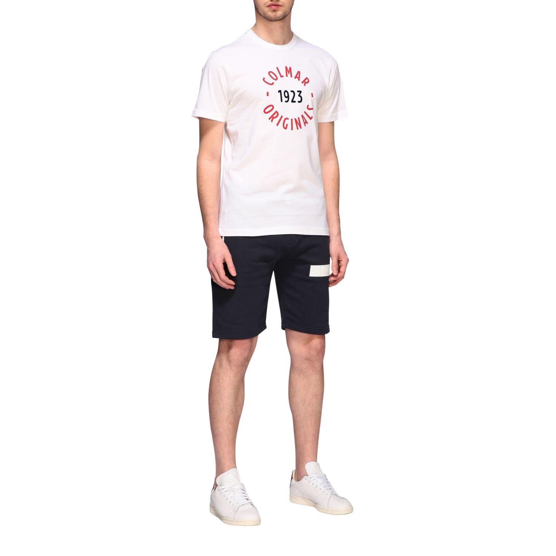 T-shirt Colmar a maniche corte con logo bianco 2