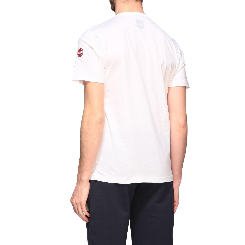 T-shirt Colmar a maniche corte con logo bianco 3