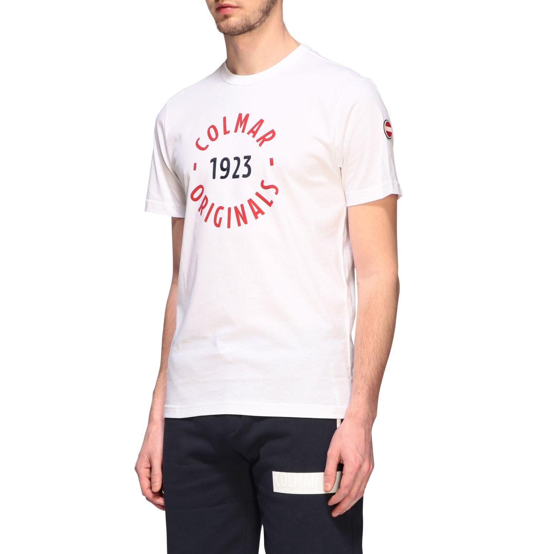 T-shirt Colmar a maniche corte con logo bianco 4
