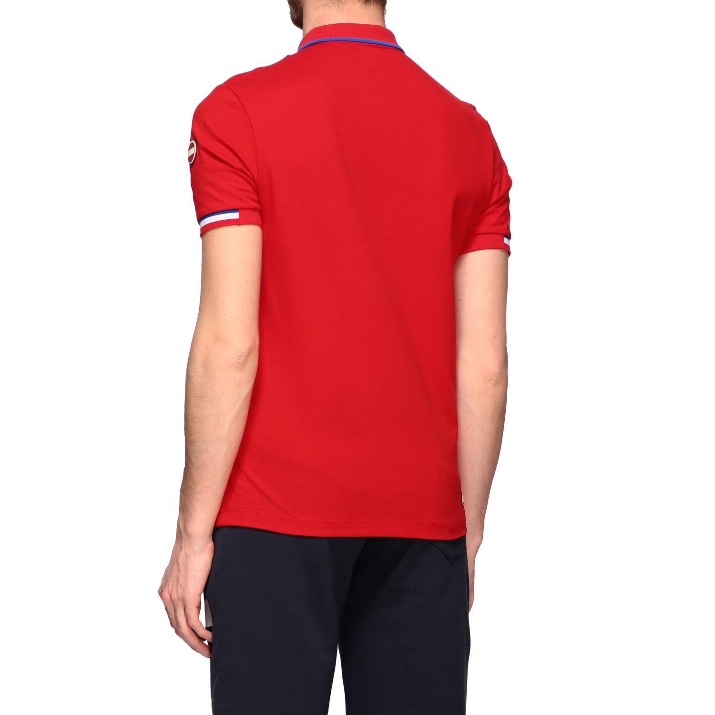 Polo Fay a maniche corte con logo rosso 3