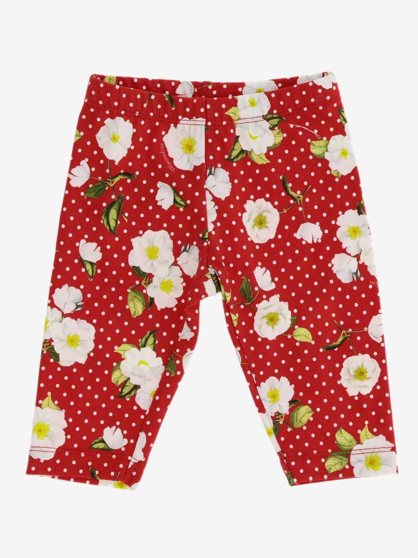 Pantalon enfant Monnalisa Bebe' rouge 1