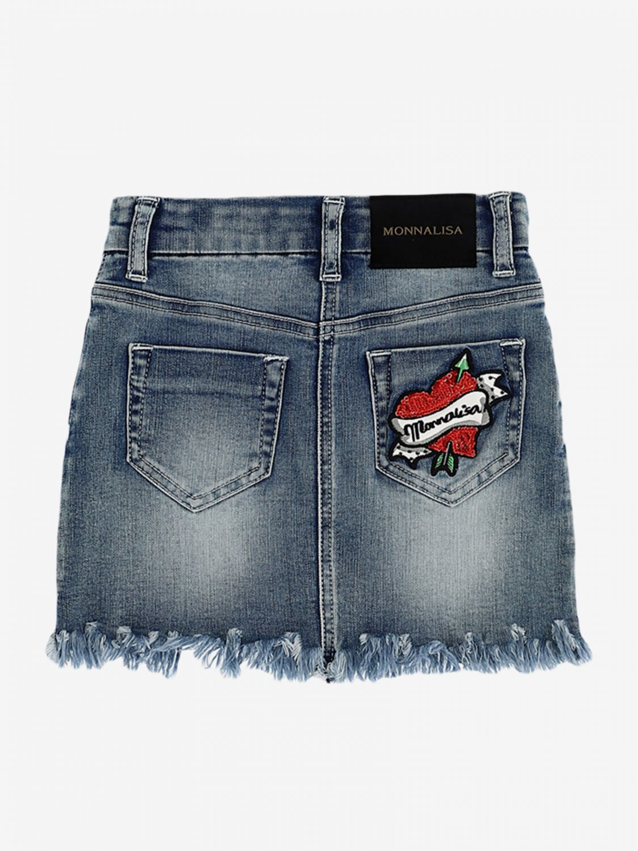 Skirt kids Monnalisa denim 2
