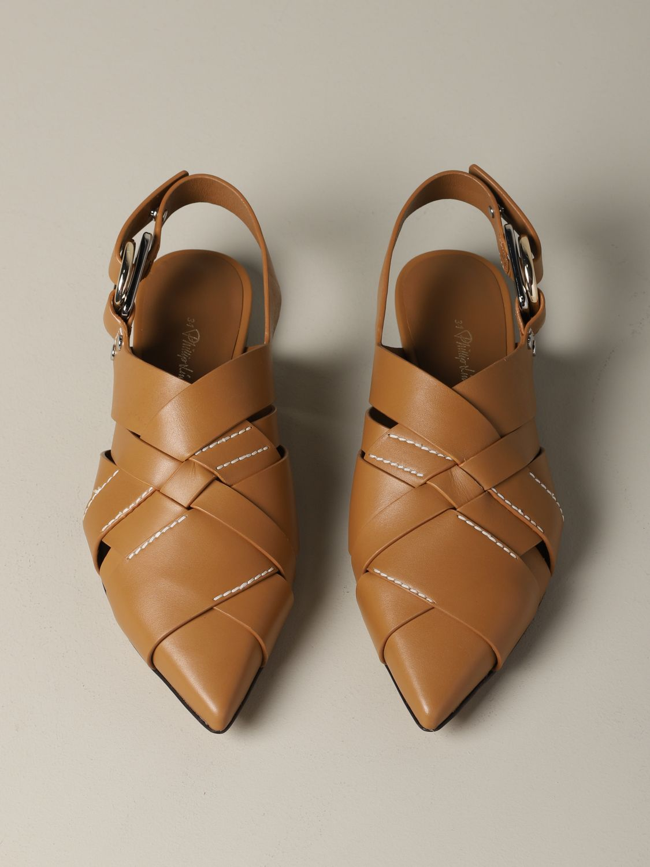 балетки 3.1 Phillip Lim: балетки Женское 3.1 Phillip Lim желто-коричневый 3