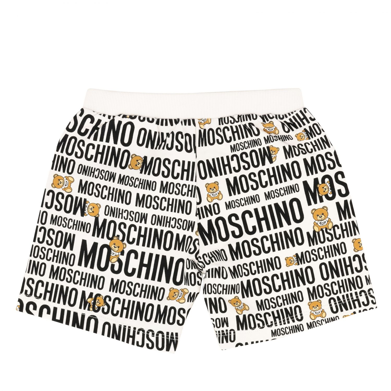 Short Moschino Baby avec logo et teddy all over blanc 2