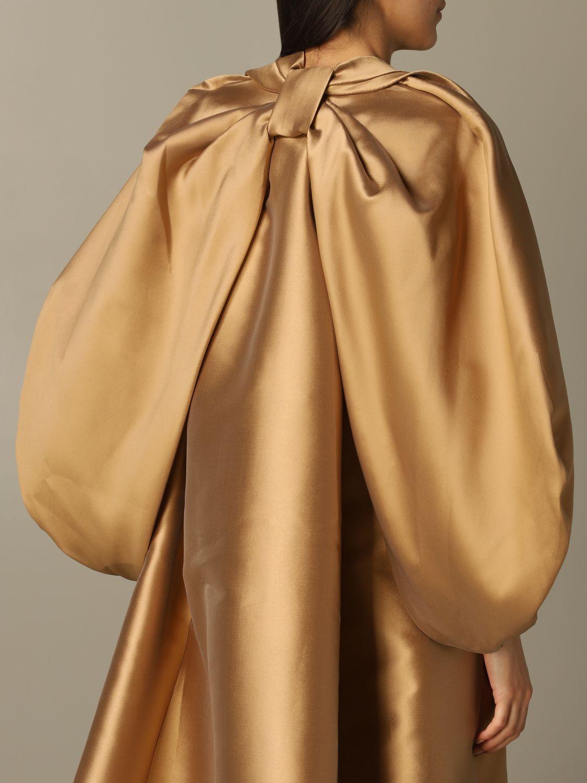 Manteau Alberta Ferretti: Manteau Alberta Ferretti à manches en noeud beige 3