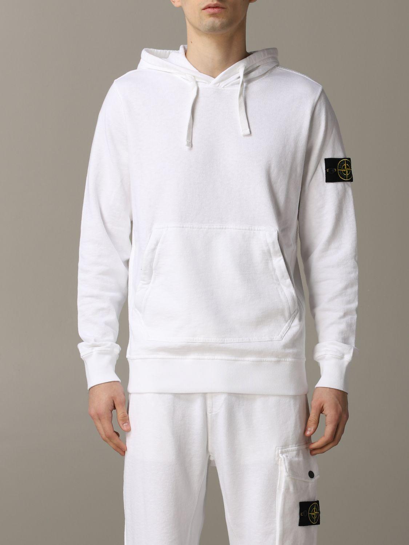 Sweatshirt men Stone Island white 1