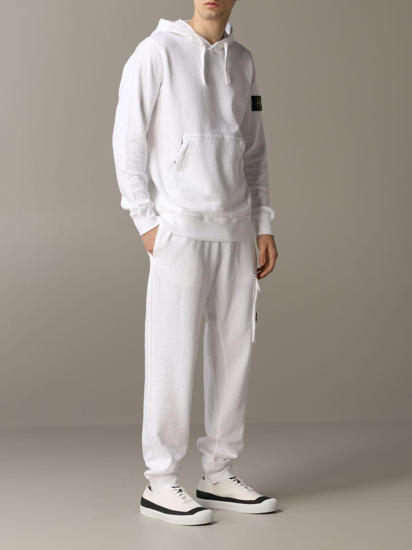 Sweatshirt men Stone Island white 2