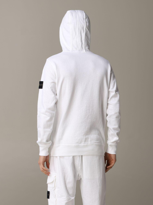 Sweatshirt men Stone Island white 3