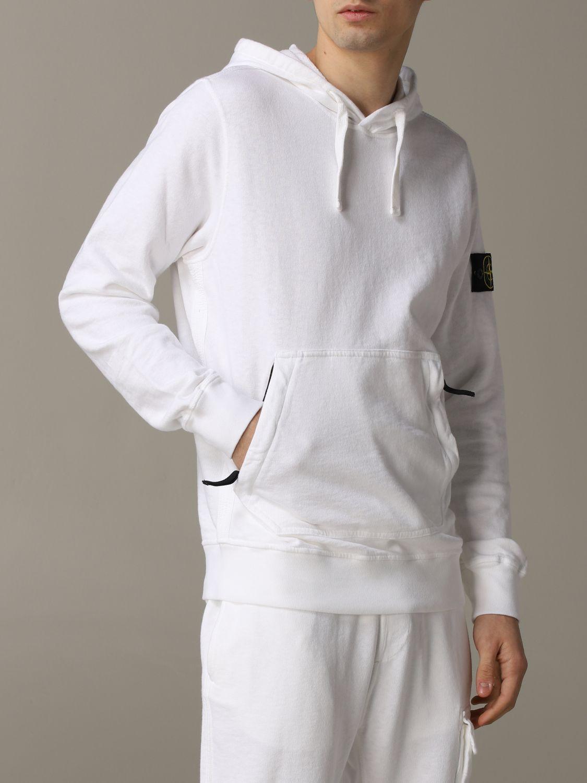 Sweatshirt men Stone Island white 5