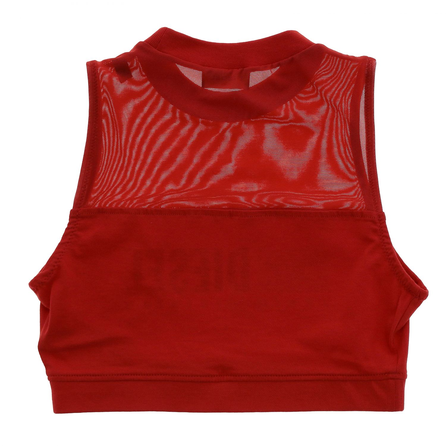 Top Diesel: Top Diesel cropped con stampa logo rosso 2