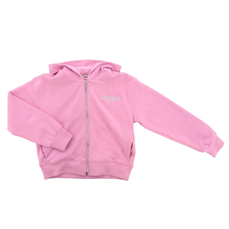 Pinko sweatshirt with hood and zip pink 1