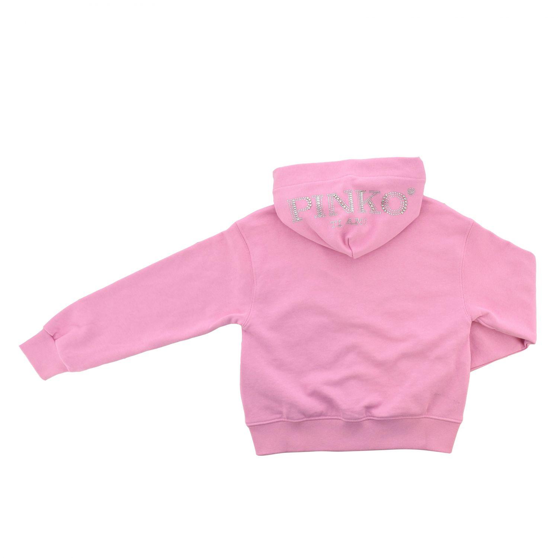 Pinko sweatshirt with hood and zip pink 2