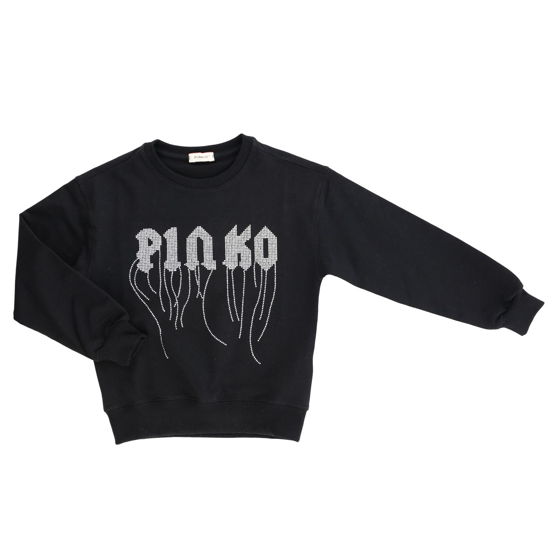 Maglia Pinko con logo e frange nero 1