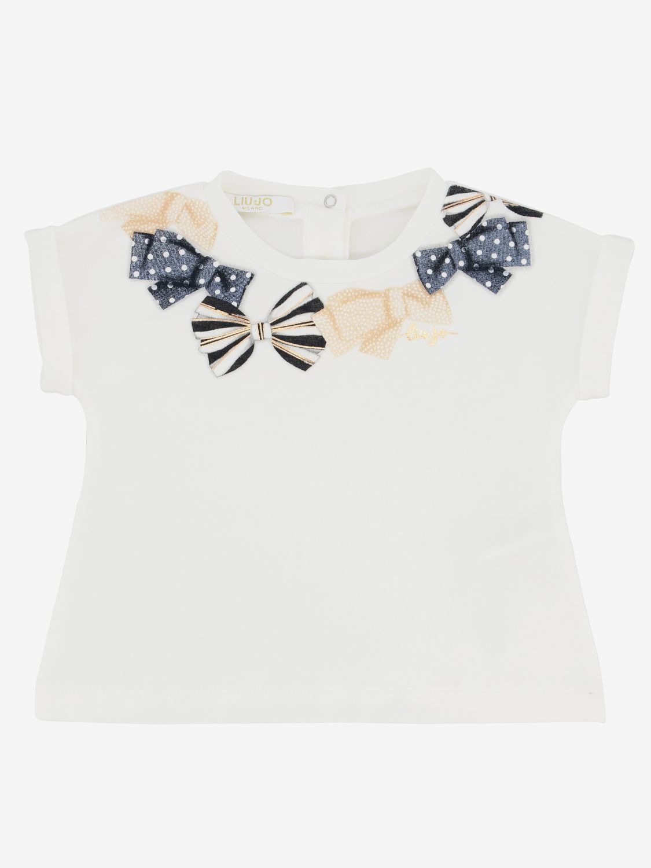 Liu Jo T-shirt with bow print white 1