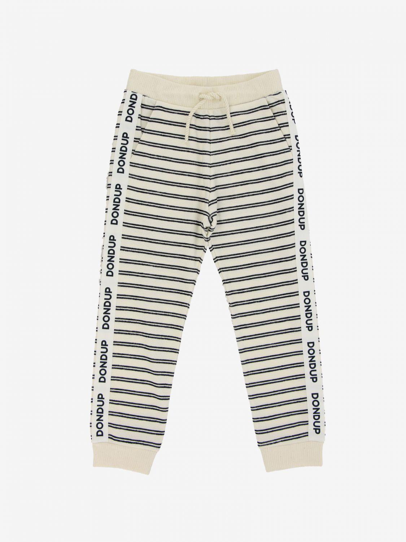 Pantalone Dondup: Pantalone jogging Dondup a righe bianco 1