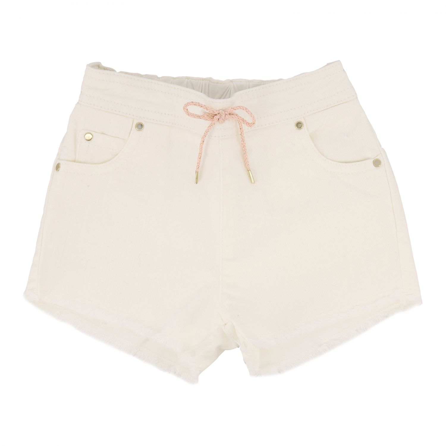 Short Chloé: Chloé shorts with drawstring white 1