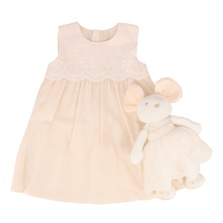 Chloé 连衣裙+毛绒玩具套装 粉色 1
