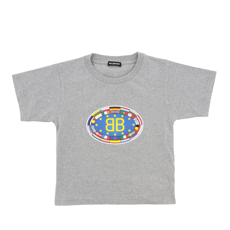 T恤 Balenciaga: Balenciaga 印花短袖T恤 灰色 1
