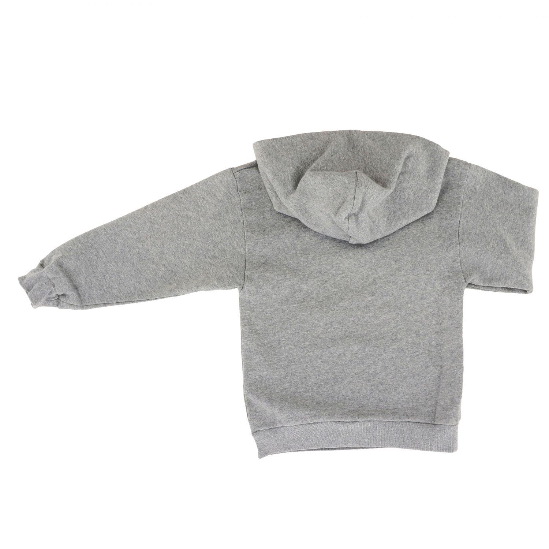 Maglia Balenciaga: Felpa Balenciaga con cappuccio e logo BB grigio 2