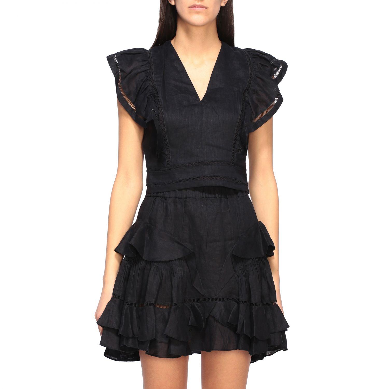 Блузка Женское Isabel Marant Etoile черный 1