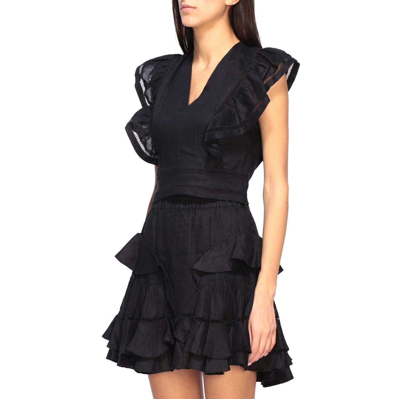 Блузка Женское Isabel Marant Etoile черный 4