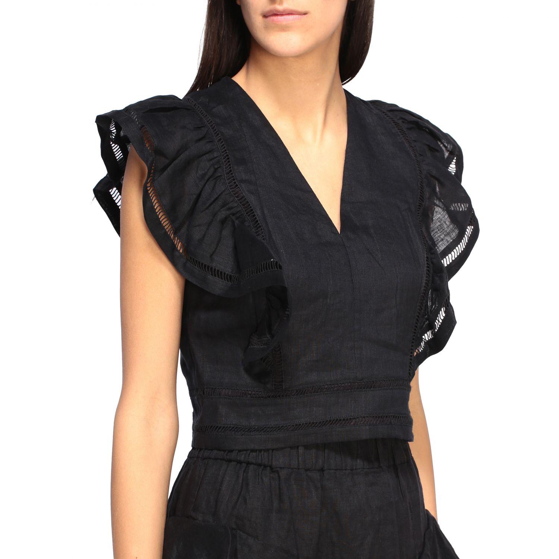 Блузка Женское Isabel Marant Etoile черный 5