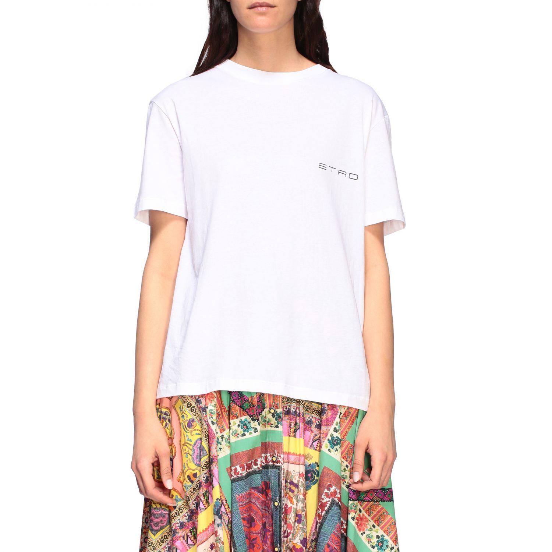 Etro crew-neck t-shirt with back print white 1