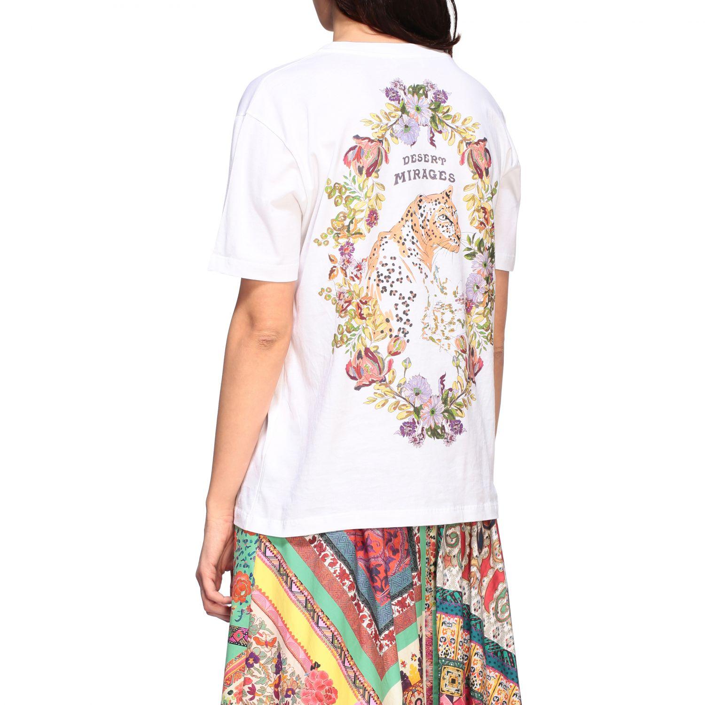 Etro crew-neck t-shirt with back print white 3