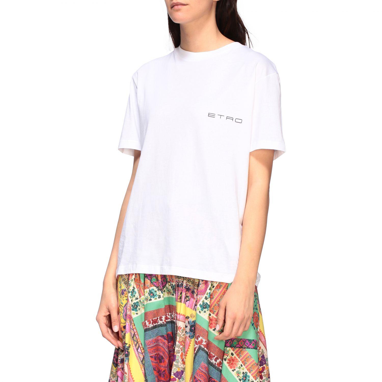 Etro crew-neck t-shirt with back print white 4