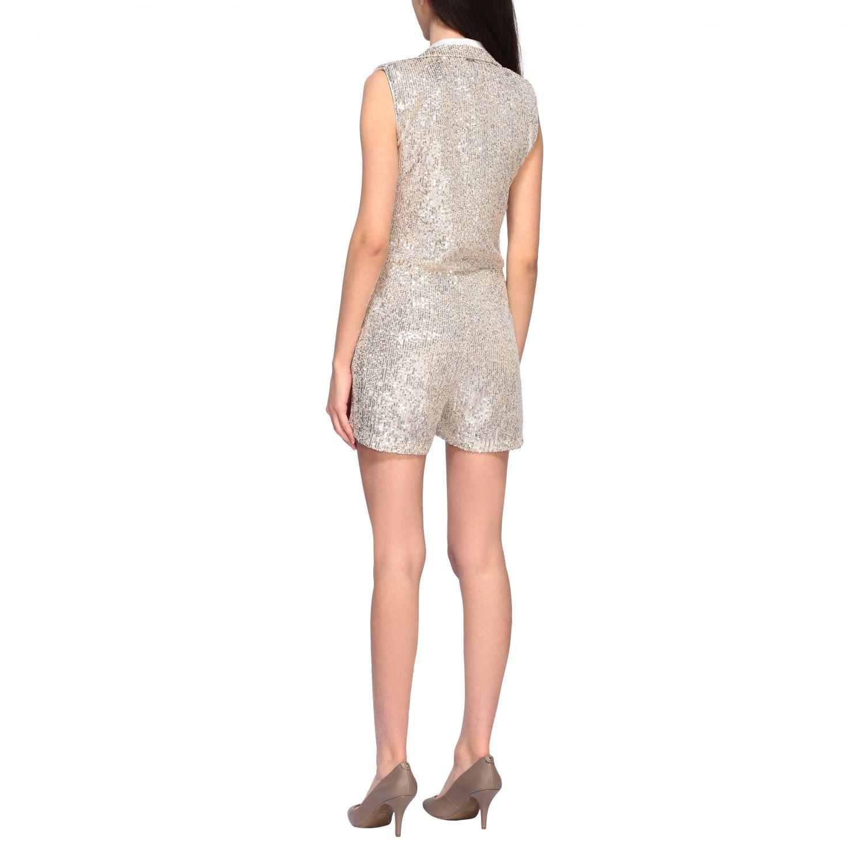 Short Liu Jo suit with sequins white 2