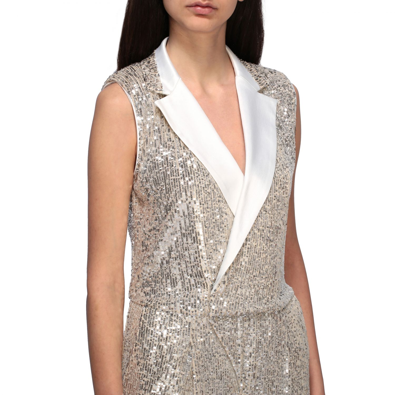 Short Liu Jo suit with sequins white 4