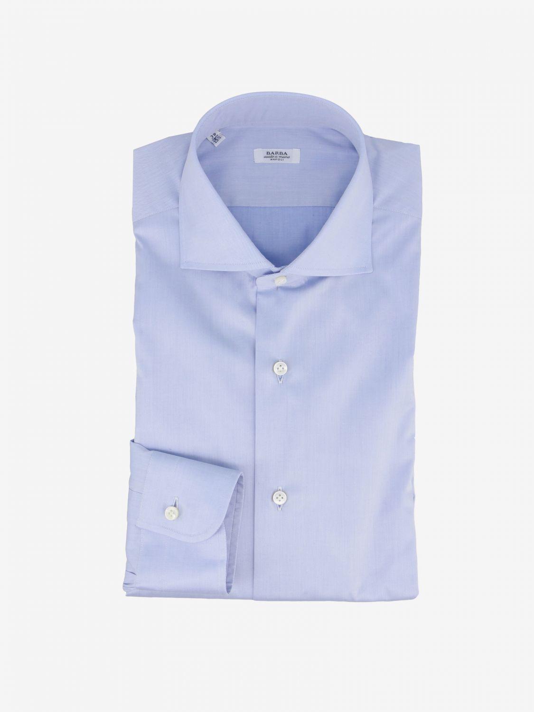 Shirt Barba Napoli: Shirt men Barba Napoli gnawed blue 1