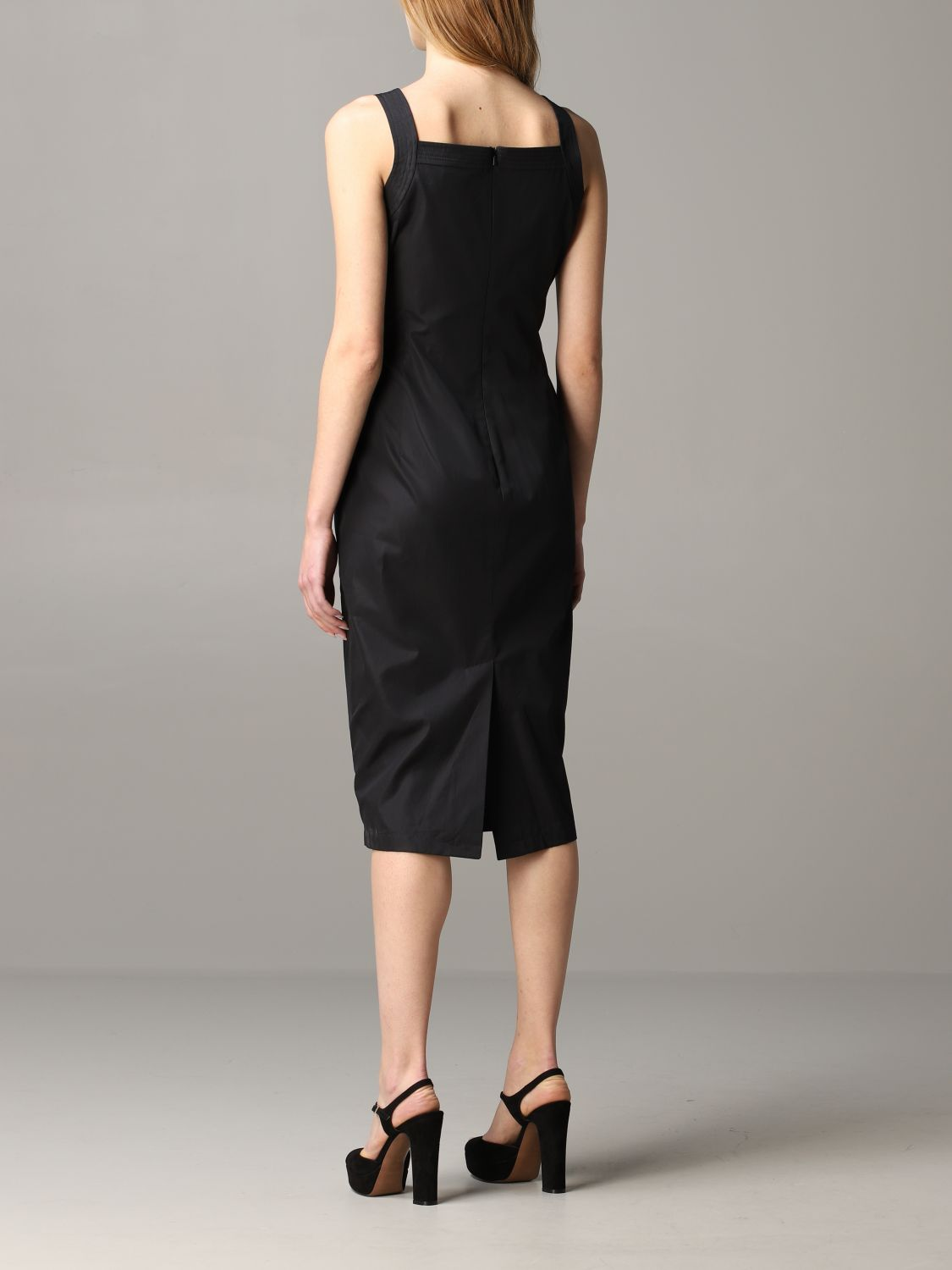 Max Mara draped dress black 2