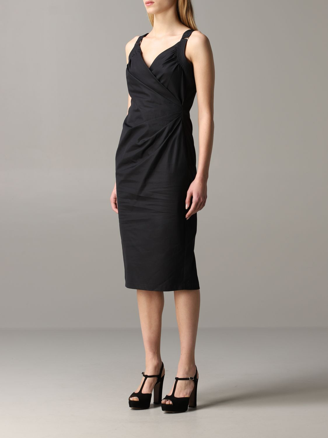 Max Mara draped dress black 3