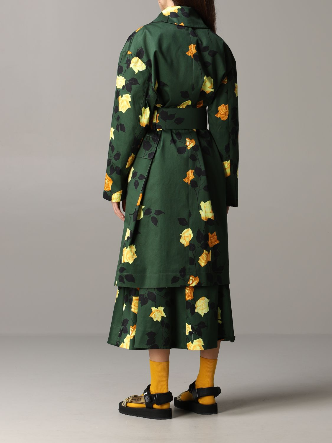Msgm coat with floral pattern military 3
