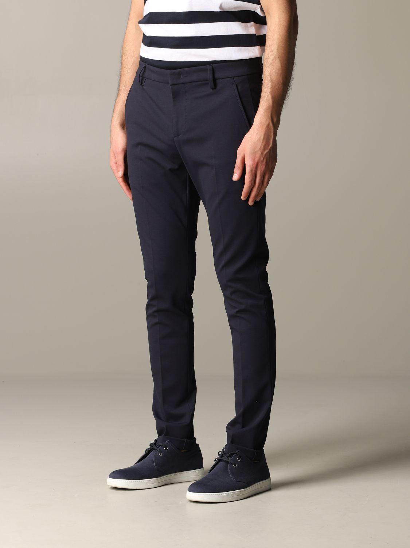 Pants Dondup: Dondup trousers with regular waist blue 4