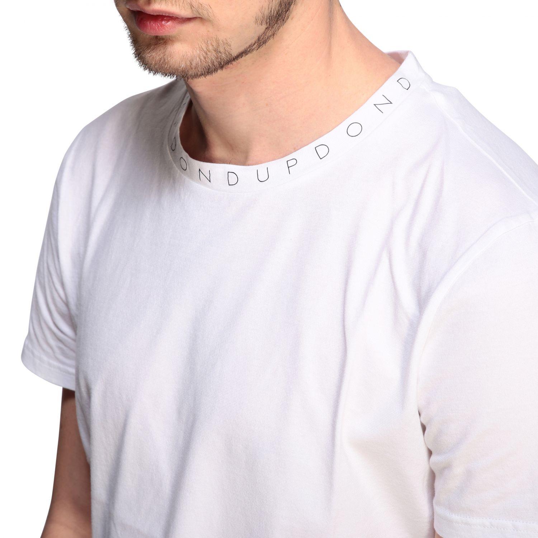 T-Shirt Dondup: Dondup T-Shirt mit Logo weiß 5